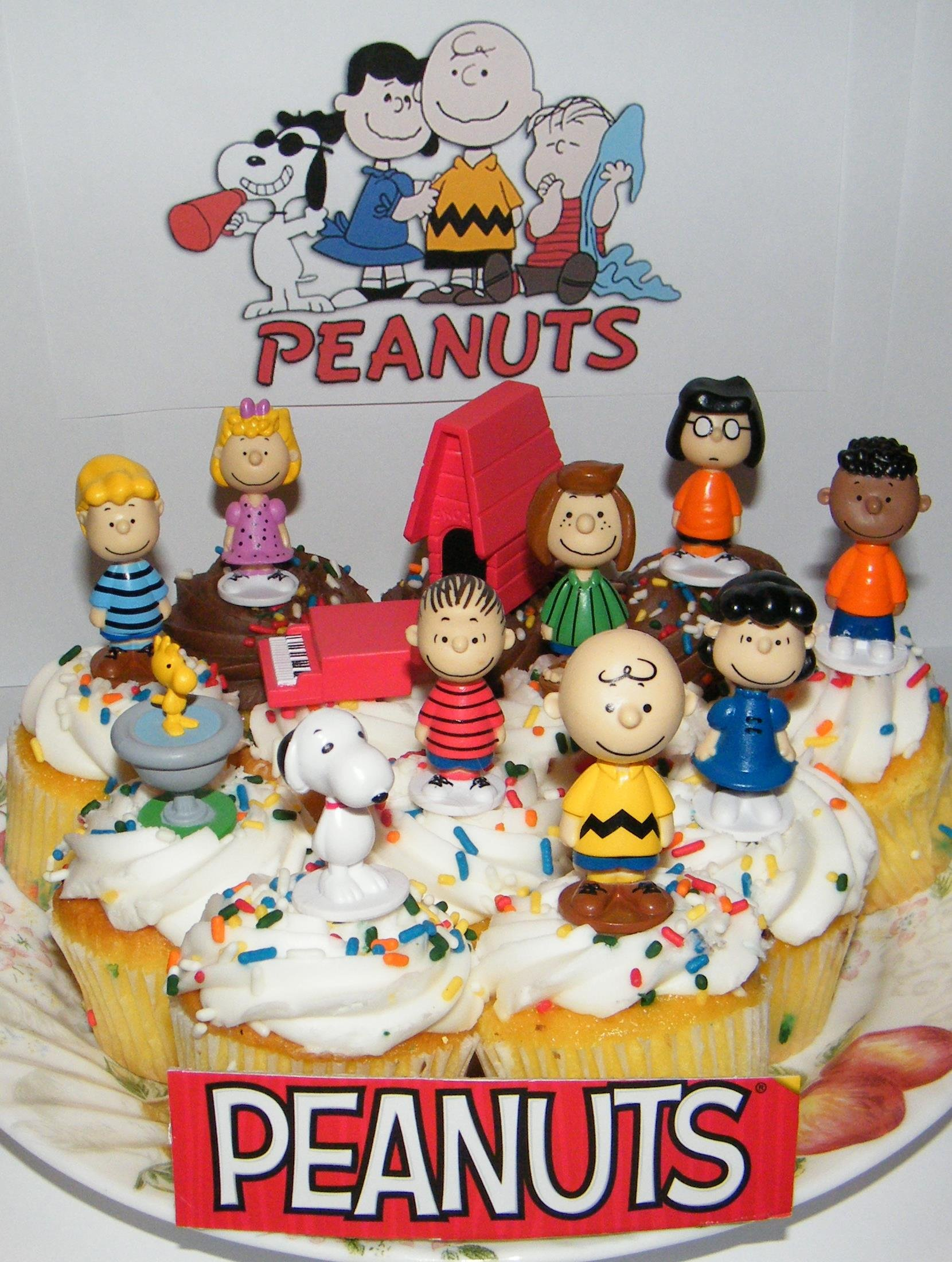 Amazon Peanuts Movie Classic Figure Set Of 13 Mini Cake