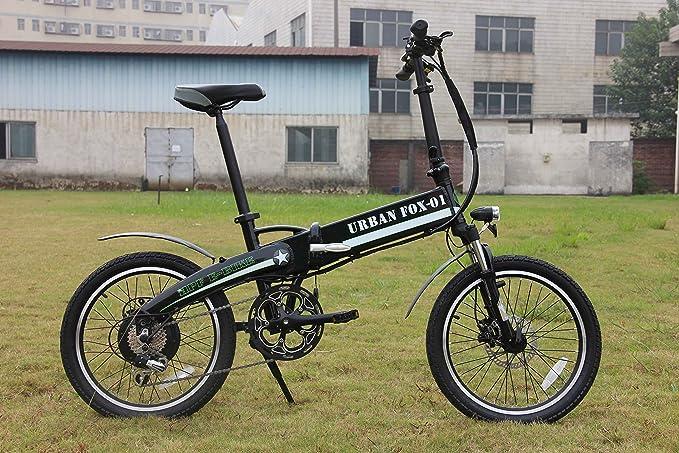 bicicleta eléctrica plegable (negro metalizado): Amazon.es: Deportes y aire libre