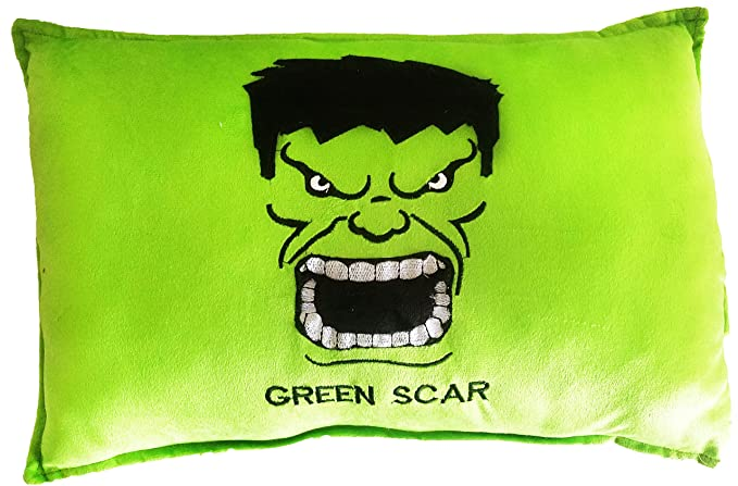 Super Hero Marvel Avengers Pillow Plush Toy Super Cute 20x12 Imported Best Quality Cartoon Action Soft Toys Figure (Hulk)