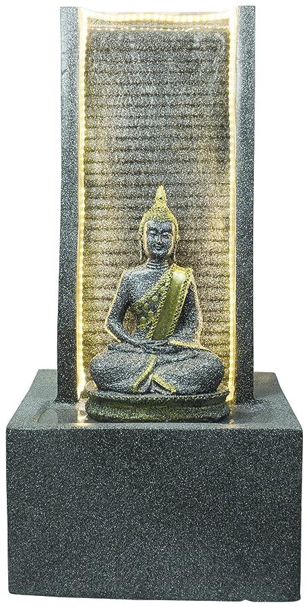 Kaarigari Artifacts Water Fountain with Lord Buddha Statue (Black ... 58827f0b05