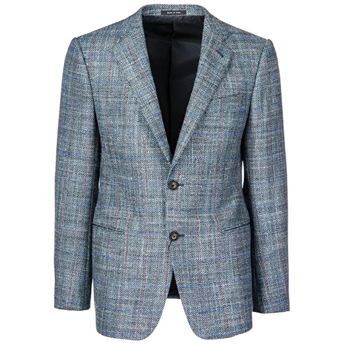 Emporio Armani cazadoras hombres americana chaqueta nuevo blu EU 50 (UK 40) 11GTC011815: Amazon.es: Ropa y accesorios