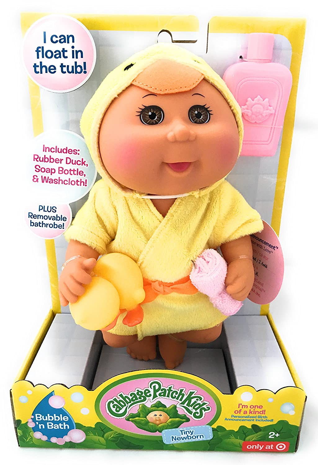 Cabbage Patch Kids Bubble n Bath Tiny New Born Wicked Cool Toys SG/_B074JQS5BX/_US