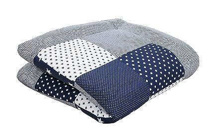 Laufgittereinlage Spieldecke 115 x 115 cm lulupila Baby Krabbeldecke Blau, 115x115 cm Oeko Tex Standard 100 100/% Baumwolle