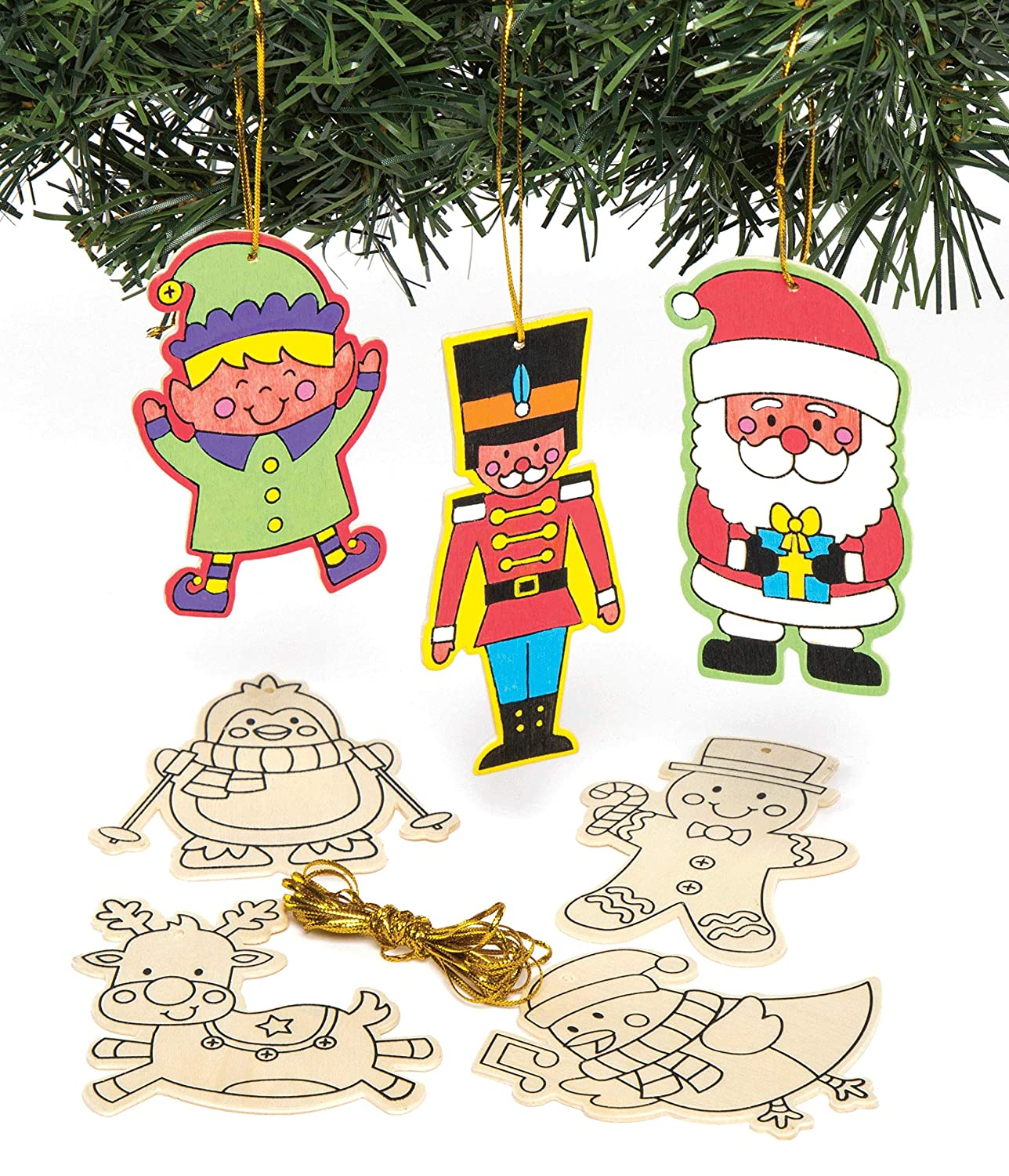 GINGERBREAD CHRISTMAS DECORATION SET OF 3 SEWING KITS #CRAFT//TREE //KIDS