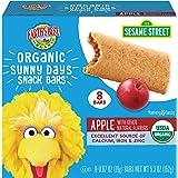 Earth's Best Organic Sesame Street Sunny Days Toddler Snack Bars, Apple, 5.3 Ounce (Pack of 6)