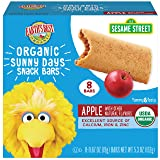 Earth's Best Organic Sesame Street Sunny Day Toddler Snack Bars with Cereal Crust, Apple, 8 Count Box