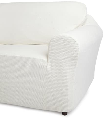 Classic SlipCovers 78 96 Inch Sofa Cover, Off White
