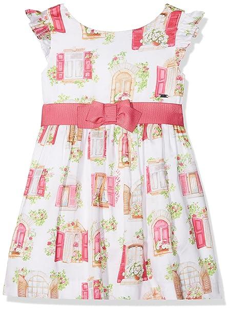 Mayoral 3940, Vestido para Niñas, Rosa (Fucsia), 4 años (Tamaño