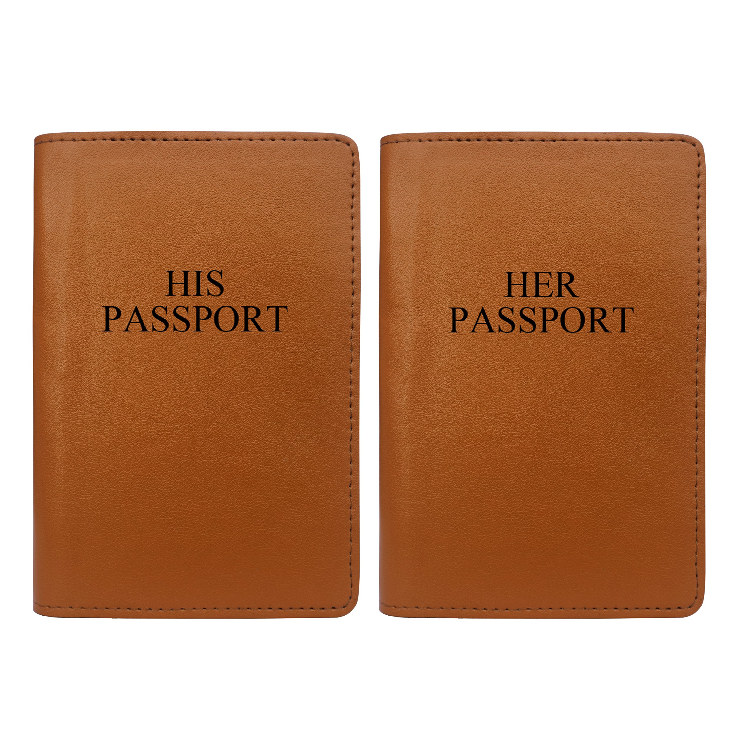 His And Her - Couple Passport Holder Personalized Passport Cover Set of 2