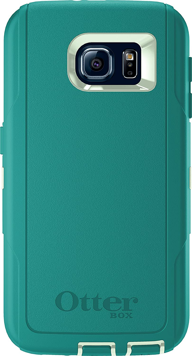 OtterBox DEFENDER SERIES for Samsung Galaxy S6 - Retail Packaging - Cool Melon (Sage Green/Light Teal Blue)