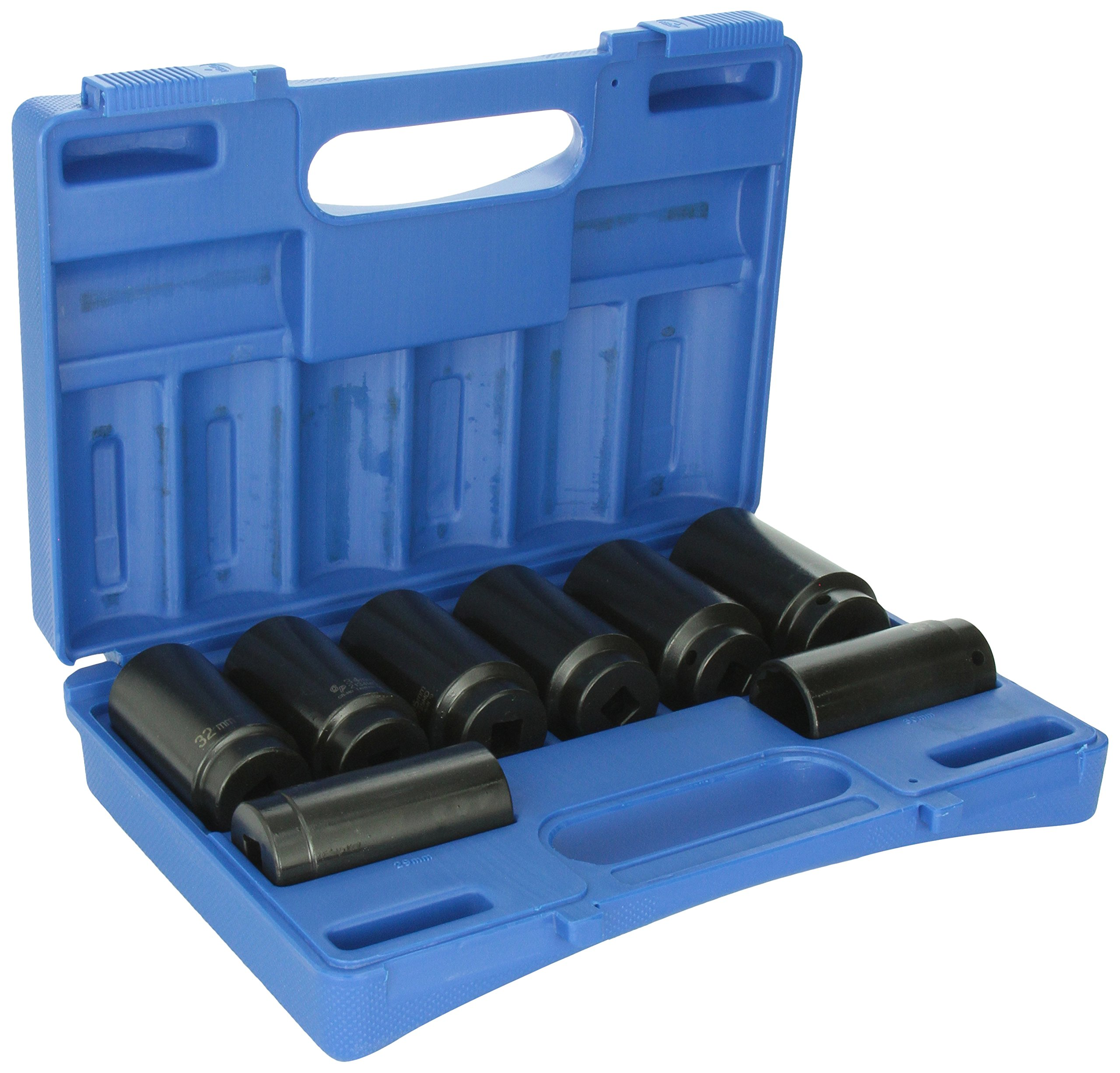 Grey Pneumatic (1708SN 1/2'' Drive 8-Piece 12-Point Spindle/Axle Nut Socket Set