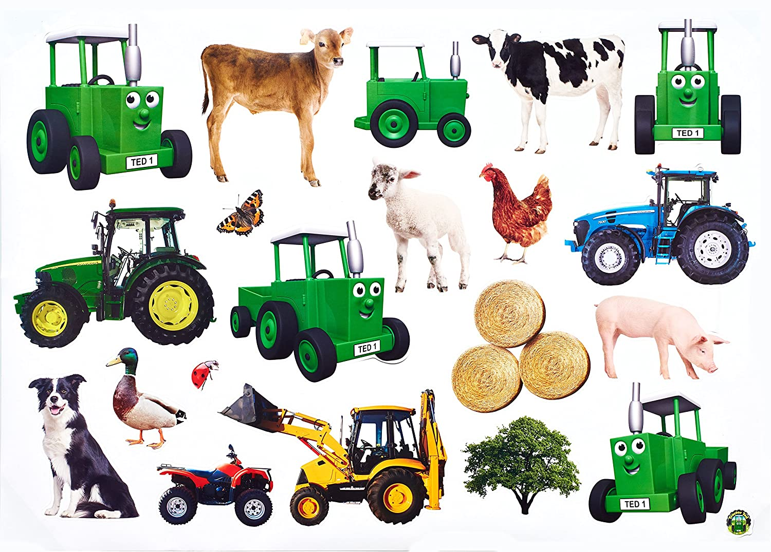 Tractor ted wall stickers amazon toys games amipublicfo Gallery