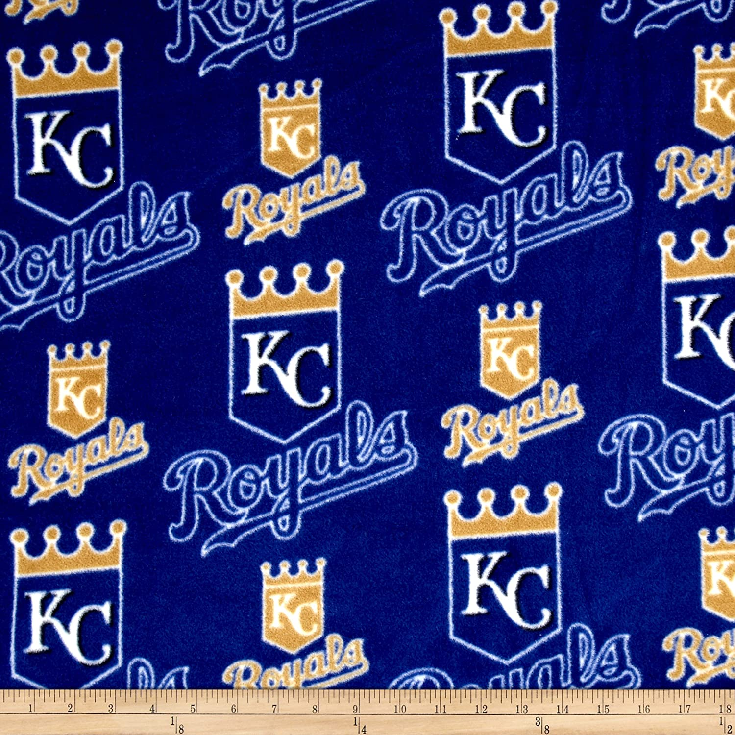 Fabric Traditions MLB Kansas City Royals Fleece Blue Fabric By The Yard