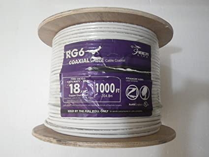 RG6 Coaxial Cable 18AWG Copper Clad Steel 1000 ft.