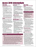 Microsoft Access 2019 Intermediate Quick Reference Guide - Windows Version (Cheat Sheet of Instructions, Tips & Shortcuts - Laminated Card)