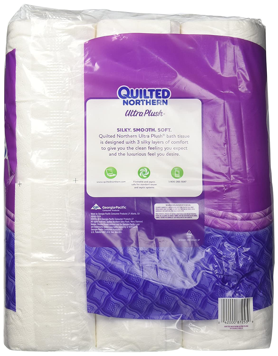 Amazon.com: Quilted Northern Ultra Plush Toilet Tissue - Double Roll - 24 pk: Health & Personal Care