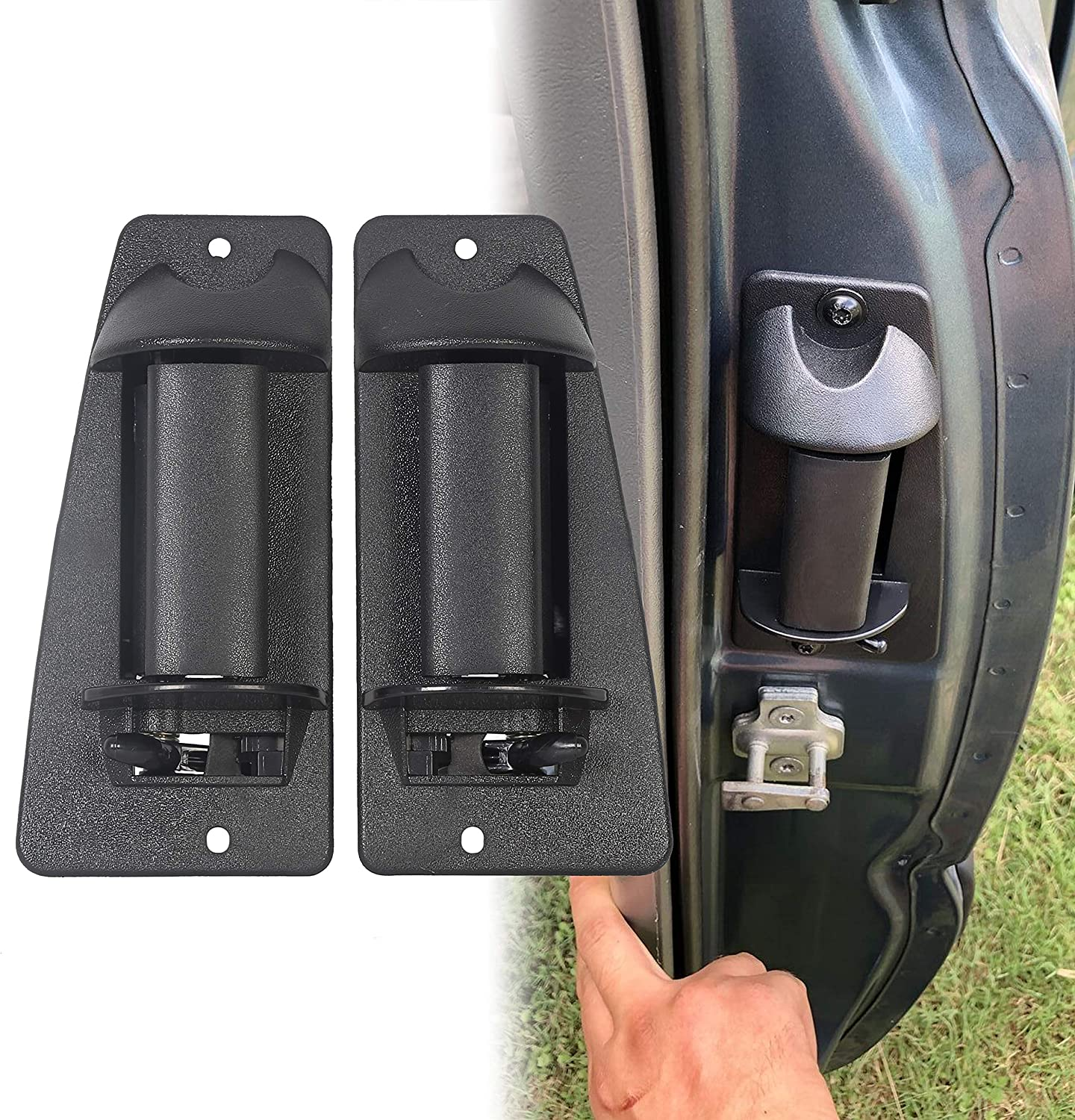 fits Rear Left Driver/'s and Right Passenger/'s Sides of Extended Cab Exterior Outside Outer Door Handle Compatible with 1999-2007 Chevy Silverado and GMC Sierra Part Numbers 15758172 /& 15758171