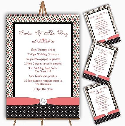 Tarjetas de felicitación de boda, diseño de rosas y lunares, color ...