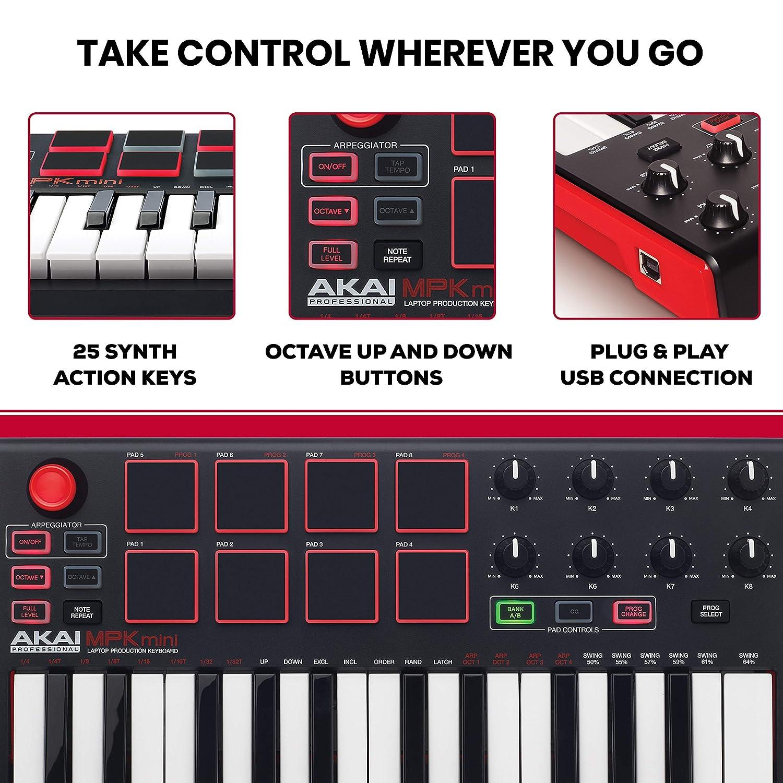 Akai Professional MPK Mini MKII Reviews - 25 Key Portable Keyboard 3