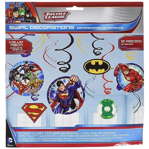 Justice League Foil Swirl Value Pack Decorations Party Favor