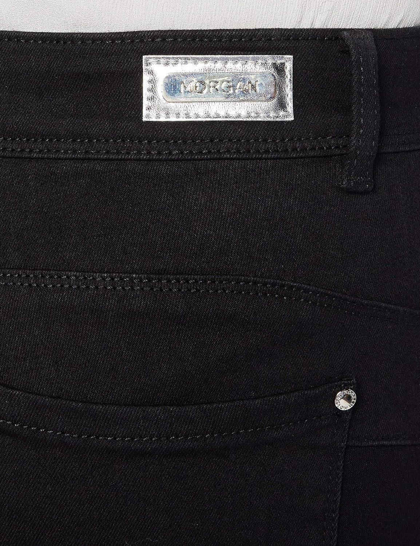 Nero T34 Donna Morgan Jeans Droit Taille Haute /À Poches Peach1 Pantaloni Casual