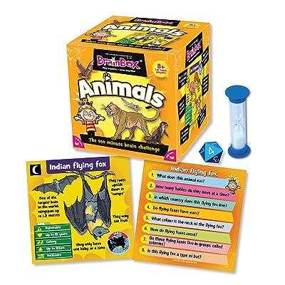 Green Board Games BrainBox Animals - Juego de preguntas sobre animales (en inglés): Juguetes y juegos