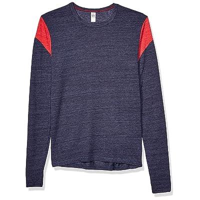 Alternative Men's Shoulder Stripe Tee Long Sleeve | .com