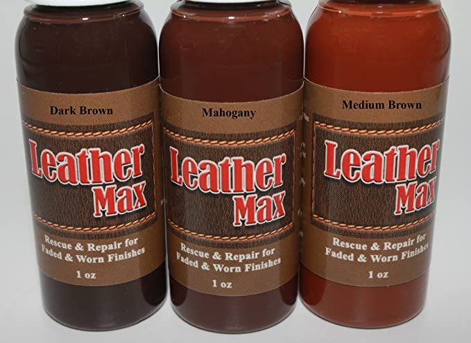 Leather Repair Kit/Leather Color Kit/Cleaner/Color Restorer/Sponge Applicator (Leather Repair) (Vinyl Repair) (Leather Dye) (Dark Brown)