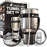 MalloMe Stainless Steel Vacuum Insulated 6-Piece Tumbler Set, 30 oz