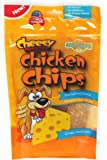 Cheesy Doggie Chicken Chips | Dog Treats Made in USA - 4 oz 100% Chicken