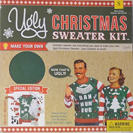 New Make Yours Ugly Christmas Sweater Kit Red Men/'s /& Women/'s Pick Your Size