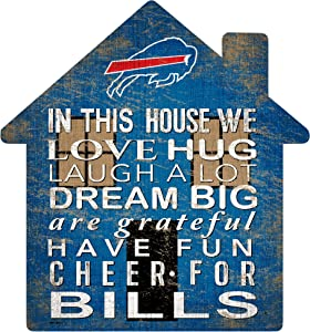 Fan Creations NFL Buffalo Bills Unisex Buffalo Bills House Sign, Team Color, 12 inch (N0880-BUF)