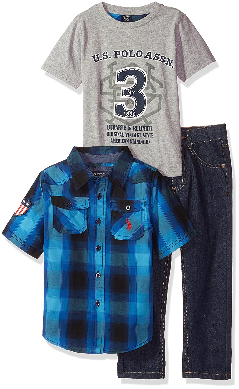 U.S. Polo Assn. Boys' Short Sleeve T Shirt and Pant Set