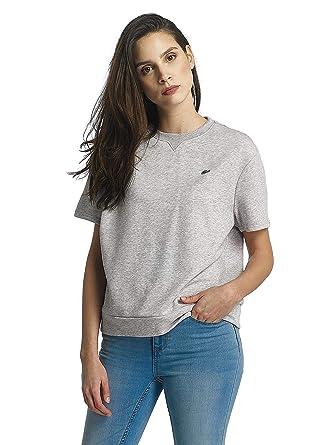 6162fe8d12 Lacoste Femme Hauts/Sweat & Pull Classic Gris 38: Amazon.fr ...