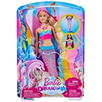 Barbie Sirena Arcobaleno con Luci Colorate, Si Attiva Sott'Acqua, Multicolore, DHC40