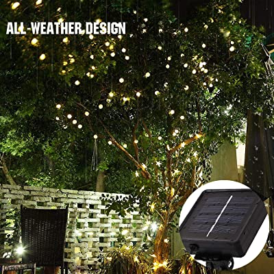 MoKo Solar Powered String Lights Outdoor, 21.3ft/6.5m 30 LED Small Ball Fairy Light Waterproof for Garden Decoration Patio Grass Lawn Tree Flower Fence - Warm White: Home Improvement