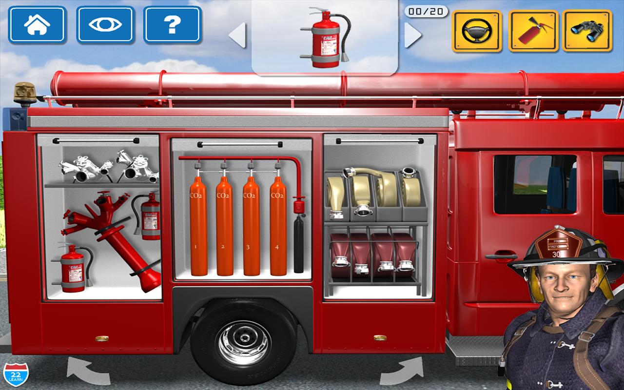 amazon com kids vehicles 1 interactive fire truck animated 3d