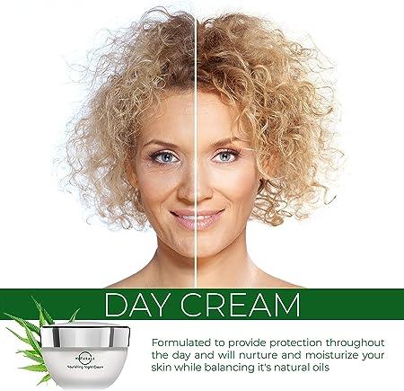 O Naturals Crema Hidratante Facial Mujer Hombre Crema de Día. Cara Cuello Escote. Crema Anti arrugas con Aceite de Hemp. Revive la Piel Seca, Omega 3, Vitamina E, Acido Hialuronico y Colágeno. 50gr.