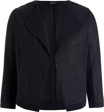 Chicwe Chaquetas Tallas Grandes Mujeres Blazer Con Dibujo Moda Negro 4x Amazon Es Ropa Y Accesorios