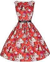 Lindy Bop 'Audrey' Vintage 50's Rose Bouquet Print Swing Dress