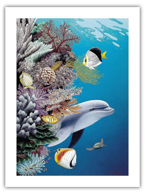 Pacifica Island Art 8x12 Cartel de Chapa Vintage-Arrecife de ...