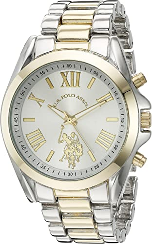 Amazon.com: U.S. Polo Assn. Women's Quartz Metal and Alloy Casual Watch, Color:Two Tone (Model: USC40117): Watches