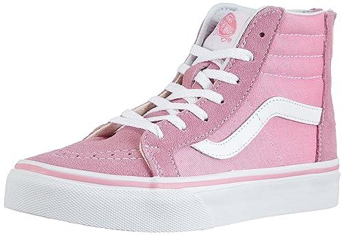 656a334ff8 Vans Kids Sk8-Hi Zip Prism Pink True White VN-0W9W2W0 6