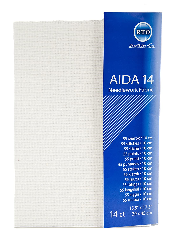 Aida 14 Count 39X45cm-White RTO 085 11