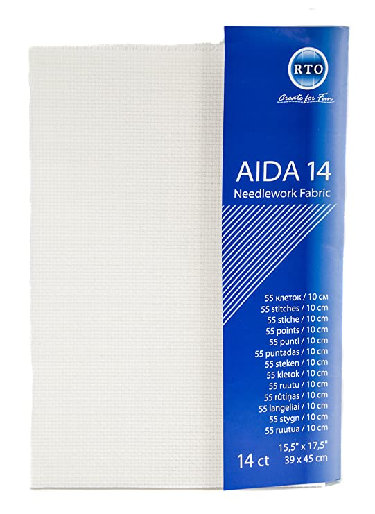 Aida 14 Count 39X45cm-Beige
