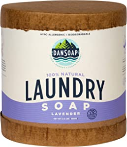 DanSoap All Natural Laundry Detergent | Eco-Friendly, Hypoallergenic, Natural, Biodegradable Laundry Soap | 70 Loads, Lavender