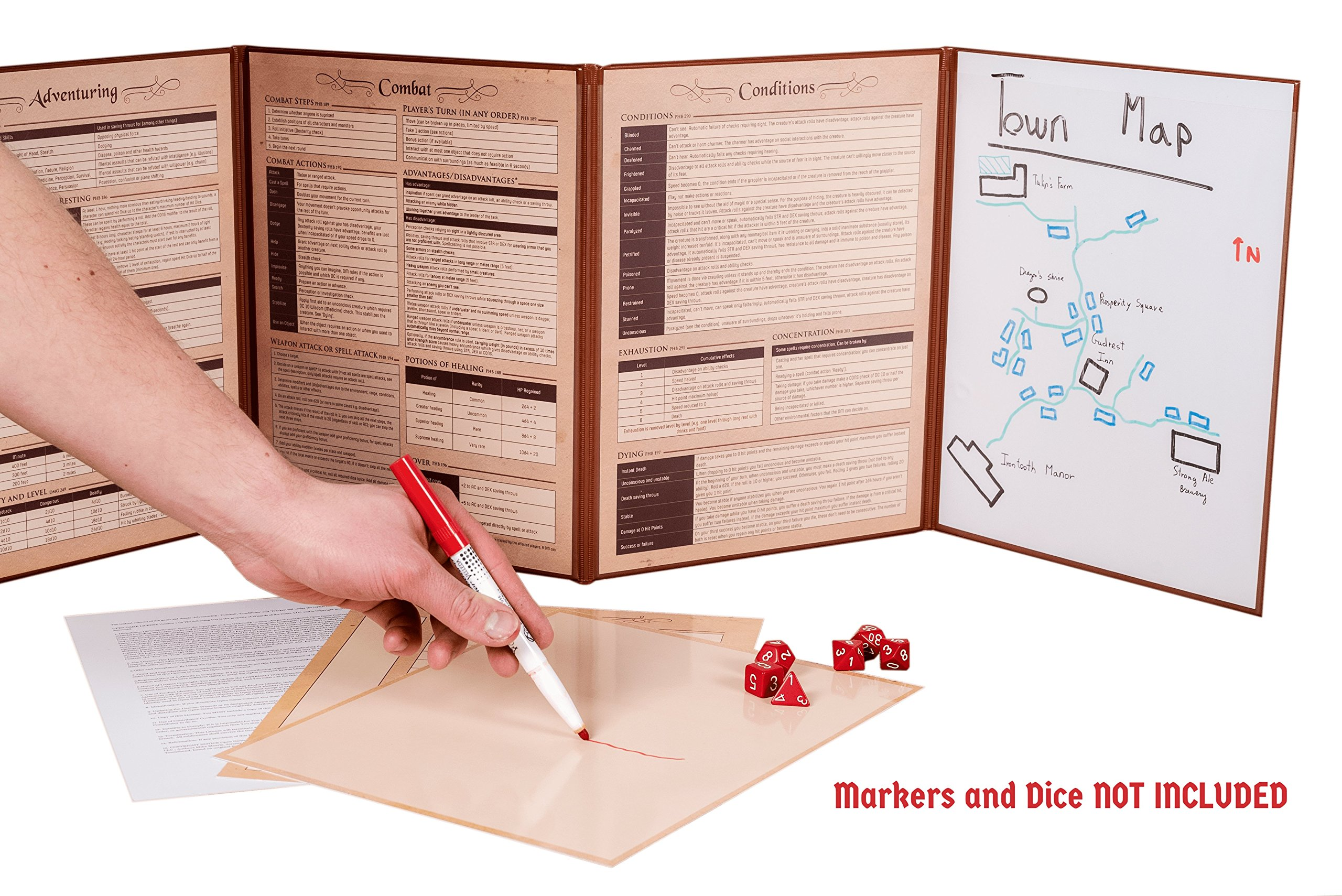 Hexers Game Master Screen - Dungeons and Dragons D&D DND DM