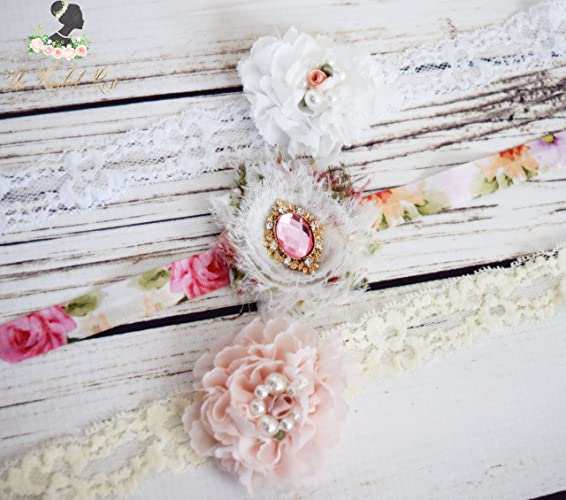 Amazon.com  Handcrafted Vintage Baby Girl Headband Set - Premie ... 06909ff340e
