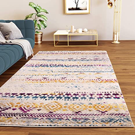 Amazon.com: Super Area Rugs 5x7 Southwestern Striped Boho ...