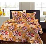 Bombay Dyeing Breeze Plus Collection Flat Double Bedsheet Set, Orange, 274 x 274 cm, 4918 A